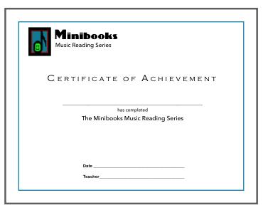 Minibooks Certificate